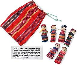 6 Muñecos Quitapenas con Bolsa - Comercio Justo de Guatemala