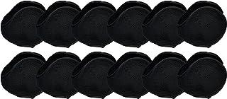 Winter Earmuffs, 12 Pack, Cozy Ear Warmers Colors Mens Womens Unisex Bulk Assorted Ear Muff - black - One Size