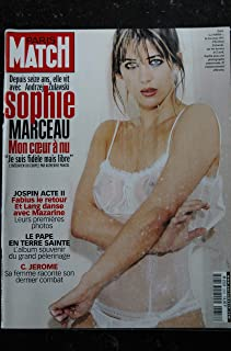 PARIS MATCH N° 2654 2000 AVRIL COVER SOPHIE MARCEAU TRES SEXY 8 PAGES C. JEROM