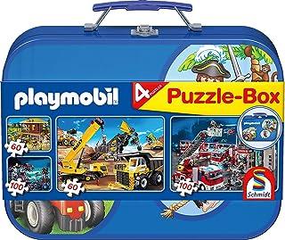 Schmidt - 55599 - Puzzle - Playmobil - Coffret de Puzzles 2X60 - 2X100 Pièces