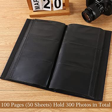 Vienrose Photo Album 4x6 300 Pockets Leather Frame Cover Large Capacity Pictures Book for Wedding Family Baby Vacation