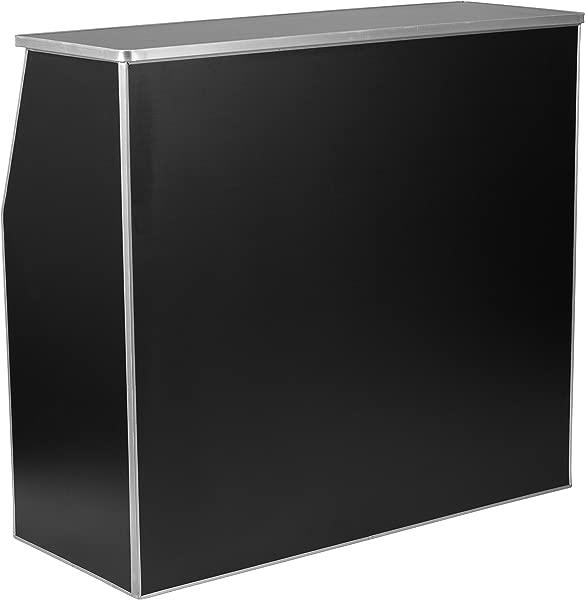 Flash Furniture 4 Black Laminate Foldable Bar