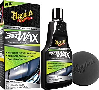 MEGUIAR'S 16 Ounce G191016 3-in-1 Wax Kit, 16 oz