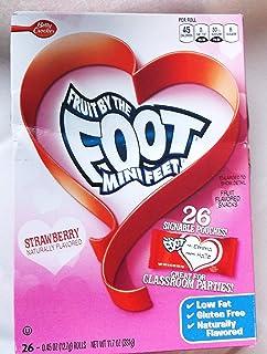 Fruit By the Foot Mini Feet Strawberry Valentine Rolls Fruit Flavored Snacks by Betty Crocker