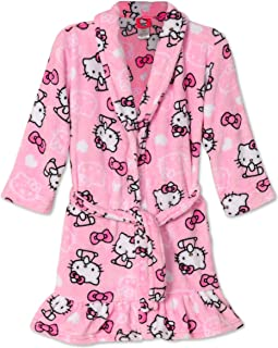 26304559c SANRIO Hello Kitty Big Girls Pretty Kitty Pink Plush Fleece Robe Bathrobe