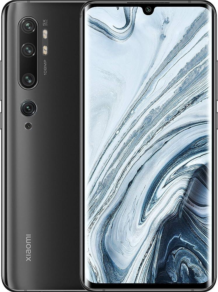 Xiaomi mi note 10 smartphone, 6 gb ram + 128 gb rom, schermo 3d curved amoled penta camera 108 mp M1910F4G