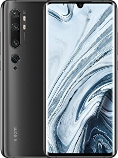 Xiaomi Mi Note 10 Smartphone, Dual Sim, 128 GB, 6 GB RAM - Midnight Black [Global Version]