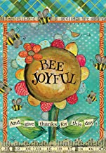 Raininc's Large Garden Flag -Bee Joyful, Exclusive Artwork by Lisa Kaus - All-Weather, Fade-Resistant Polyester -12.5 x 18 inch