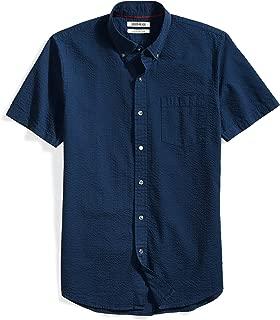 Amazon Brand - Goodthreads Men's Slim-Fit Short-Sleeve Seersucker Shirt