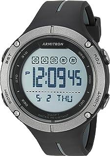 ساعة ارمترون رياضية للرجال رقمية بسوار من الراتنج
