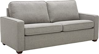 """Amazon Brand – Rivet Andrews Contemporary Sofa with Removable Cushions, 82""""W, Light Grey"""