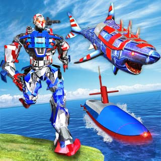 US Army Robot Shark Submarine Transform Robot Game