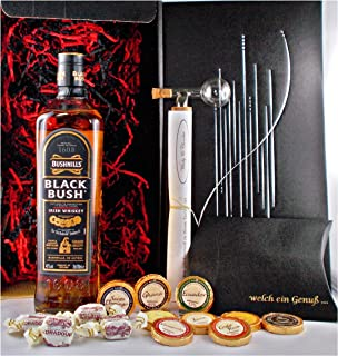 Geschenk Bushmills Black Bush Whiskey  Portionierer  Schokolade  Whisky Fudge