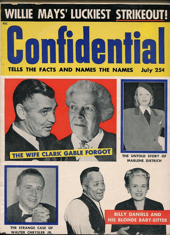 Genuine 2021 new Confidential 7 1955-Clark Dietrich' Gable-Robert Mitchum-Marlene