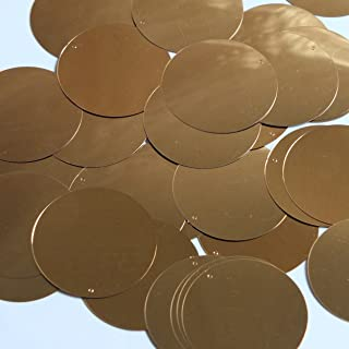 Round Sequin 40mm Copper Gold Metallic Loose Couture Paillettes