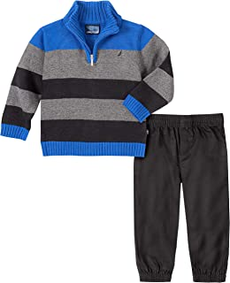 Baby Boys 2-Piece Sweater Set with Pants