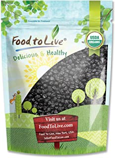 Organic Dried Blueberries, 8 Ounces - Non-GMO, Kosher, Raw, Vegan, Unsulfured, Bulk