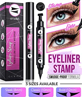 Eyeliner Stamp, Black, Waterproof, Smudge Proof, Winged Long Lasting Liquid Eye Liner Pen, Vamp Style Wing, 2 Pens in a Pack - 10 mm - Special formula 100% Vegan, and 100% FREE from any parabens