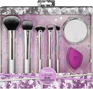 Real Techniques Makeup Brush Gift Set, With Miracle Complexion Blender Beauty Sponge and Compact Hand Mirror, Holiday Stoc...
