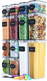 Fiyobo BPA Free Food Storage Containers with Airtight Lids,Leak-Proof Bulk Food Canister Set of 14 for Kitchen & Pantry Or...