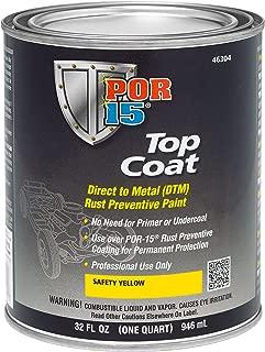 POR-15 46304 Top Coat Safety Yellow Paint, 32. Fluid_Ounces