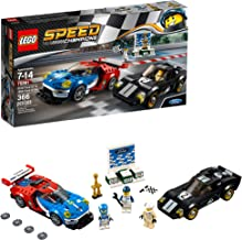 LEGO Speed Champions 6175279 2016 GT & 1966 Ford Gt40 75881 Building Kit (366 Piece), Multi