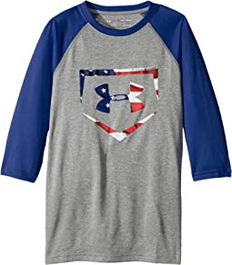 Under Armour Kids - Plate Icon 3/4 Tee (Big Kids)