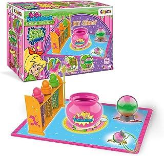 CRAZE Kocioł do samodzielnego wykonania, 3 kolory i brokat 25123 Magic Slime Bibi Blocksberg zestaw do gry DIY, wielokolorowy