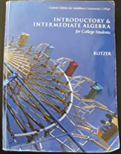 Introductory & Intermediate Algebra: for College Students, Third Edition (Custom Edition for Middlesex Community College)