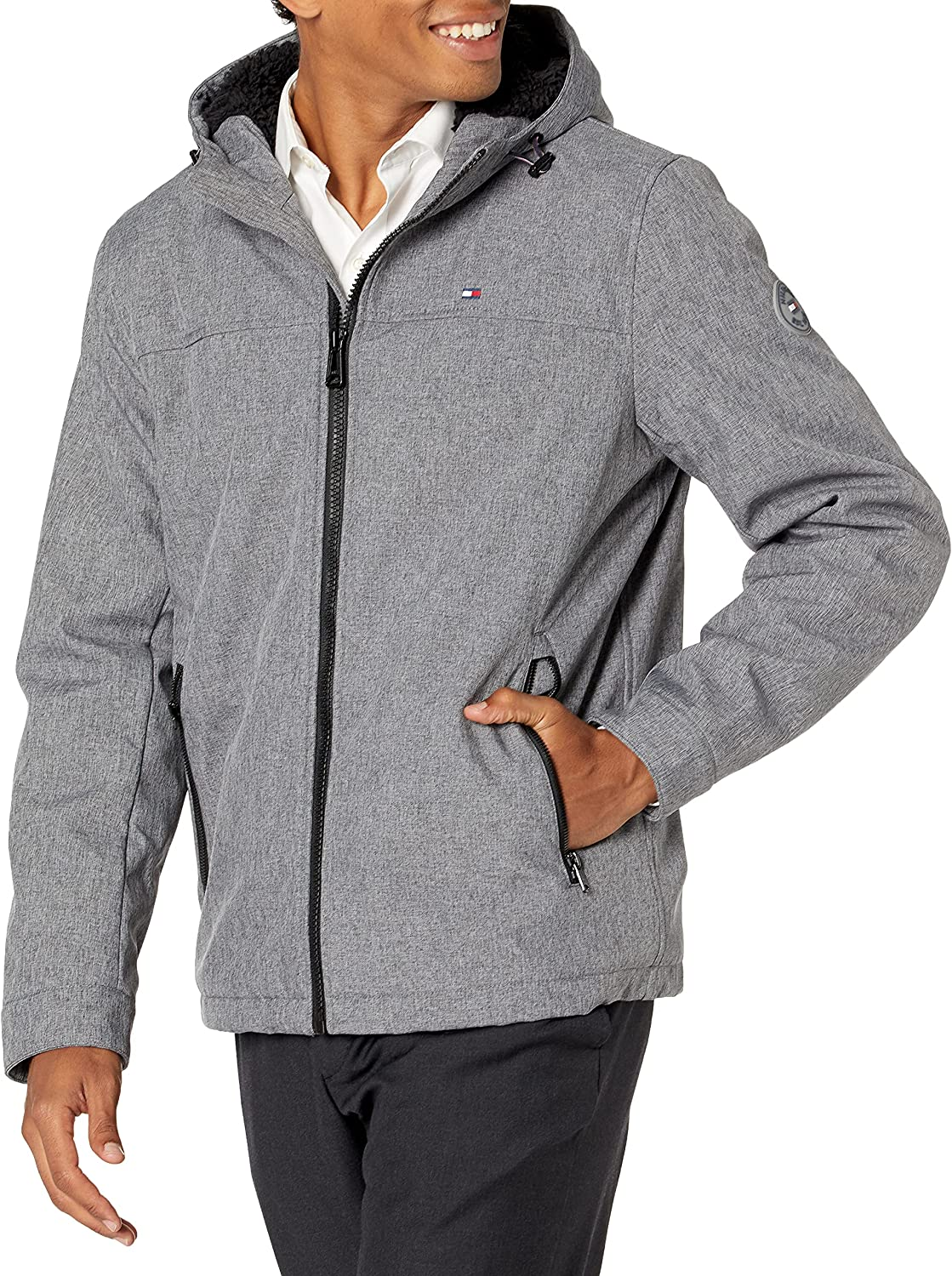 Tommy Hilfiger Men's 2021new Rapid rise shipping free Performance Hooded Jacket Bottom with Open