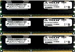 A-Tech Micron 12GB Kit 3X 4GB PC3-10600 1.5V for Dell Precision Workstation Snpp9rn2c/8g A2626072 A2626093 A2862069 A2862074 A3721482 T5600 T7500 T7600 T5500 T5600 T7500 T7600 T5500 Memory RAM