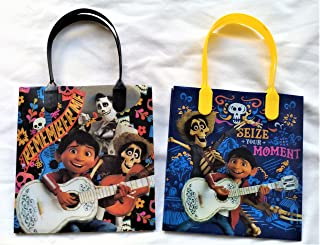 Disney/Pixar Coco Party Favor Reusable Goodie bags/ Gift Bags - Premium Quality - 12pc