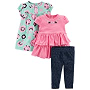 CARTER/'S BABY GIRLS 2 PIECE PANT SET HEART PRINT NWT PINK GREY WHITE ELEPHANT