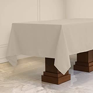 Kadut Rectangle Tablecloth (60 x 102 Inch) Ivory Rectangular Table Cloth for 6 Foot Table | Heavy Duty Fabric | Stain Proo...