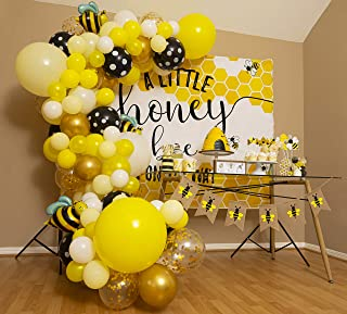 Bee Balloon Garland Kit & Arch - Bumble Bee Balloons for What Will It Bee Gender Reveal Party Supplies & Baby Shower Decor...