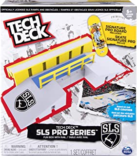 TECH DECK – SLS Pro Series Skate Park - Fun Box with Rail and Signature Pro Board