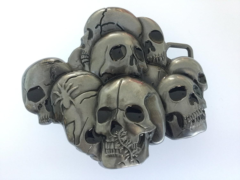 Skulls Samendi Belt Buckle Quality Antique Pewter Style B01MXN7C2D Hochwertige Materialien     | Spaß