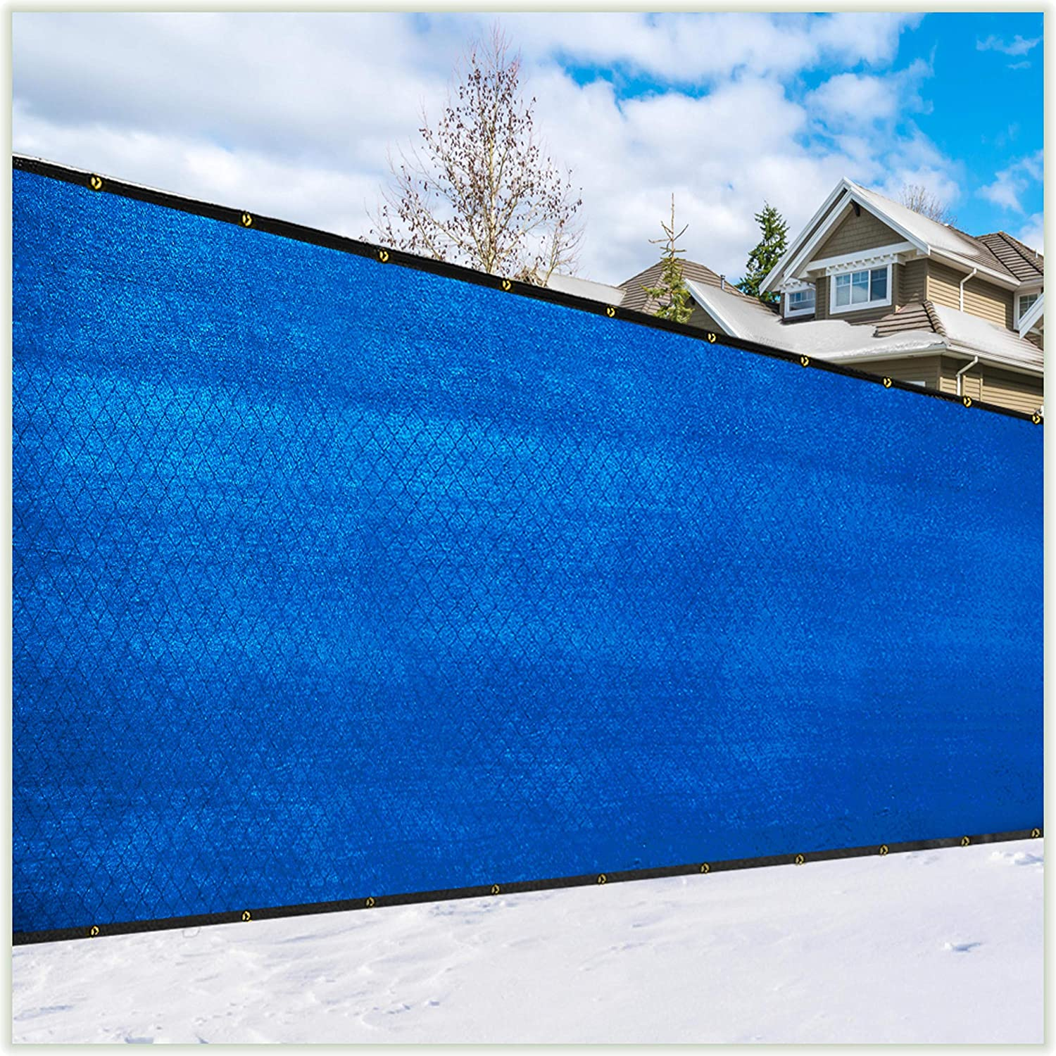 ColourTree 8' x Save money Austin Mall 50' Blue Fence F Screen Privacy Windscreen Cover