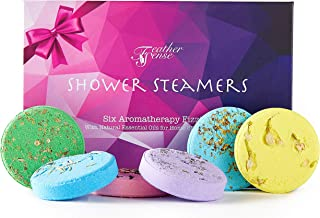 FEATHER SENSE Aromatherapy Shower Steamers Bath Bomb Set of 6x45g Shower Tablet Bombs With Essential Oils For Relaxation. ...