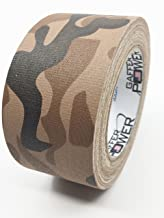 Camouflage Tape, Premium Grade Gaffer Tape by Gaffer Power - Desert Tan Camo Tape - Made in The USA, 2 Inch X 25 Yards, Heavy Duty Gaffer's Tape, Non-Reflective, Water Resistant.