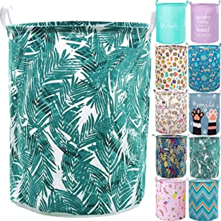 "YOMFUN 19.7"" Collapsible Laundry Hamper Kids Clothes Hamper, Laundry Basket for Kids Room Green Dirty Clothes Laundry Bask..."