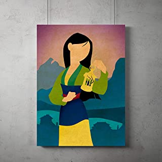 mulan minimalist poster