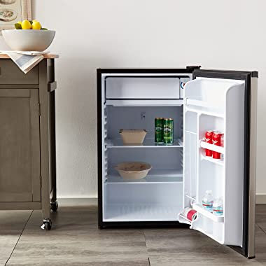 RCA 465 RFR441/RFR465 RFR441 Compact Fridge, 4.5 Cubic Feet, Stainless Steel, Stainless