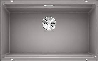 BLANCO ETAGON 700-U – Granitspüle aus SILGRANIT für die Küche für 80 cm breite Unterschränke – Unterbau – grau – 525169