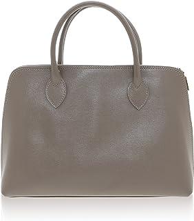 Chicca Borse - Handbag Borsa a Mano da Donna Realizzata in Vera Pelle Made in Italy - 38 x 28 x 10 Cm