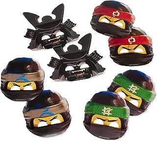 American Greetings Lego Ninjago Paper Masks, 8-Count, Multicolored