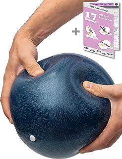 beneyu ® Antideslizante y Súper Ligero Pelota de Pilates Suave - Pelota Fitball - 23cm + Ejercicios (PDF en alemán)