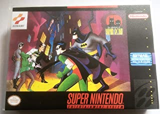 The Adventures of Batman & Robin (Super Nintendo, SNES) - Reproduction Video Game Cartridge with Universal Game Case and Glossy Manual