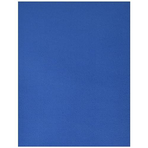 School Smart 2-Pocket Folders, Dark Blue, Pack of 25