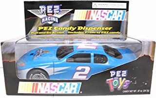 NASCAR PEZ Racing Candy Dispenser - Race Car #2 - Rusty Wallace - Pull and Go Action - Collectible